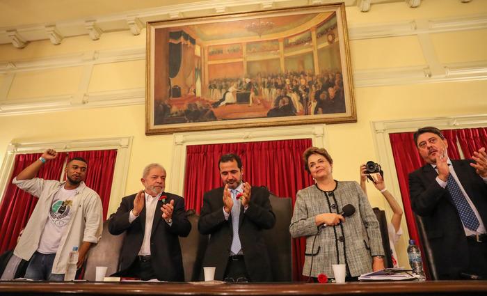 """""""O golpe de Estado no Brasil foi um processo, está sendo e será um processo. A segunda etapa do golpe é gravíssima porque abre margem para outras etapas"""", disse Dilma. Foto: Ricardo Stuckert ( """"O golpe de Estado no Brasil foi um processo, está sendo e será um processo. A segunda etapa do golpe é gravíssima porque abre margem para outras etapas"""", disse Dilma. Foto: Ricardo Stuckert)"""