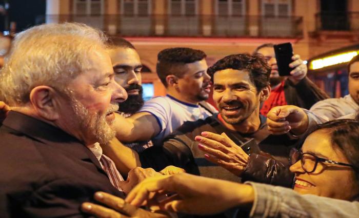 """Lula também afirmou que quem """"deu o golpe"""" é um advogado com sustentação da imprensa, em referência ao presidente Michel Temer (PMDB). Foto: Ricardo Stuckert (Lula também afirmou que quem """"deu o golpe"""" é um advogado com sustentação da imprensa, em referência ao presidente Michel Temer (PMDB). Foto: Ricardo Stuckert)"""