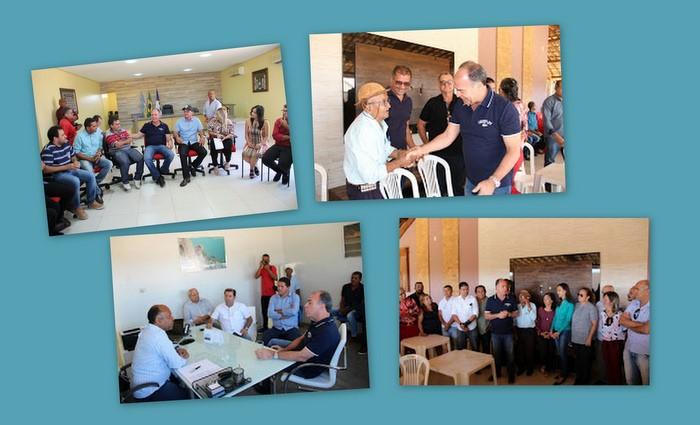 Fernando Bezerra visitou os municípios de Lagoa Grande, Santa Maria da Boa Vista, Orocó e Cabrobó. Fotos: divulgação