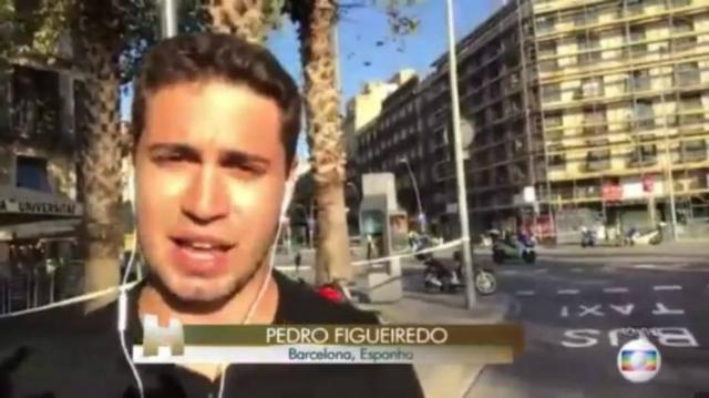 Pedro estava de férias na cidade de Barcelona. Foto: Twitter/Reprodução