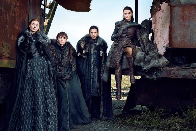 O clã Stark vive em meio ao frio do Norte. Roupas em couro e peles para compor o figurino. Foto: HBO/Divulgação