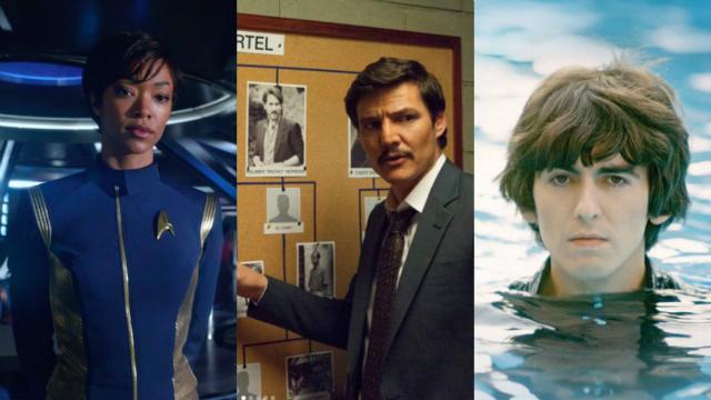 A estreia de Star trek: Discovery, a 3ª temporada de Narcos e o documentário George Harrison: living in the material world são algumas das novidades da Netflix para setembro. Foto: Netflix/Divulgação