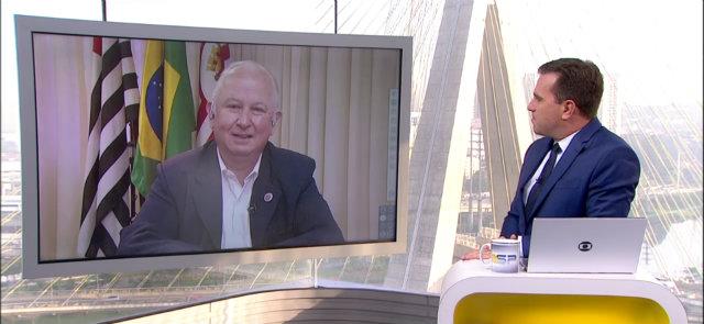 """""""Eu só falei bom dia e, em troca, a gente obteve todas essas informações"""", disse Rodrigo. Foto: Globo/Reprodução"""