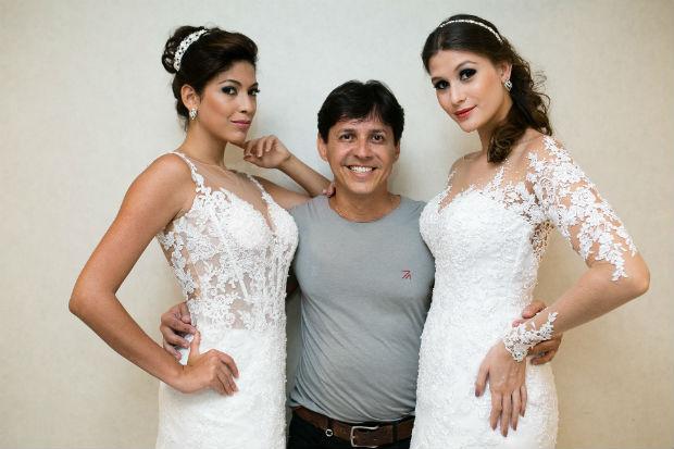 O fashion designer produz vestidos de alta-costura em todos os tamanhos. Foto: Albérico Ribeiro/Divulgação