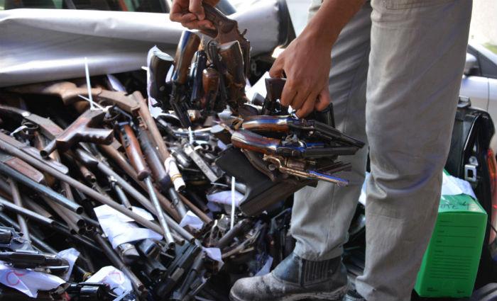 Campanha do desarmamento recebe 10.824 armas e 18.120 munições. Foto: PF/ Divulgação