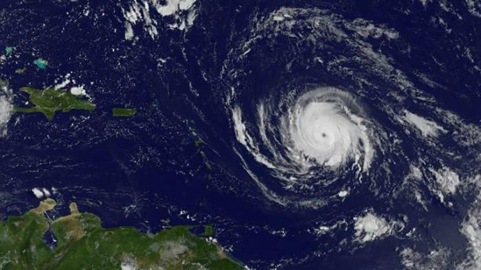 O Irma, que em sua passagem pelo Caribe deixou cerca de 30 mortos e chegou a registrar ventos de até 295km/h. Foto: NASA GOES/Project