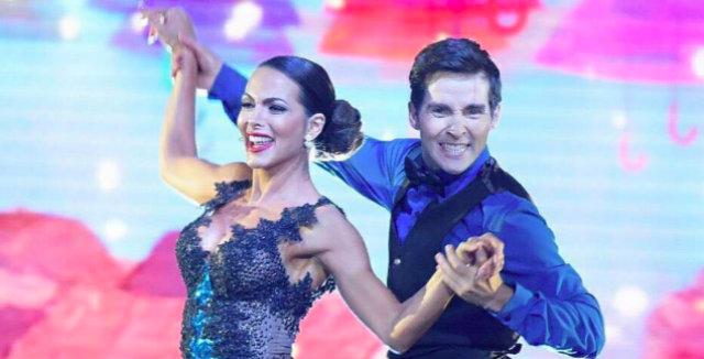 Ex-dançarina do Faustão, Carla Prata deixou a disputa. Foto: Record/Reprodução