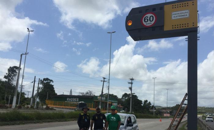 Ipem fiscaliza lombadas eletrônicas no interior do estado. Foto: Ipem/ Divulgação