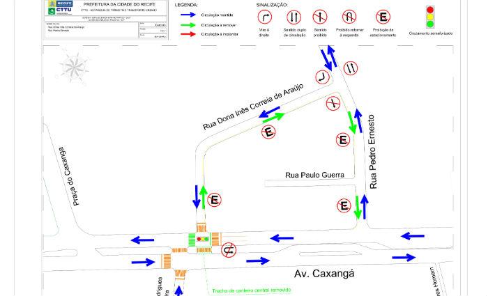 Avenida Caxangá ganha novo acesso nesta quarta-feira. Foto: CTTU/ Divulgação