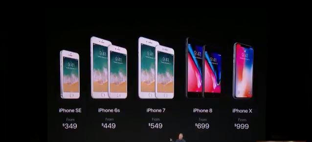 Keynote da Apple apresentou os novos iPhones. Preços variam de U$ 650 (iPhone 8) a U$ 999 (iPhone X) - Foto: Divulgação/Apple