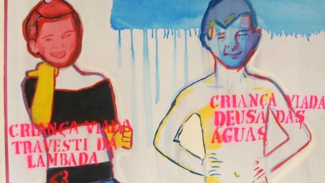 As obras Criança Viada, de Bia Leite, figuram entre as mais denunciadas. Foto: Santander Cultural/Divulgação
