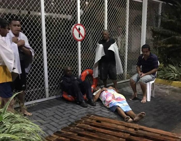 Sobreviventes de naufrágio conseguem nadar até Olinda. Foto: Reprodução/ WhatsApp