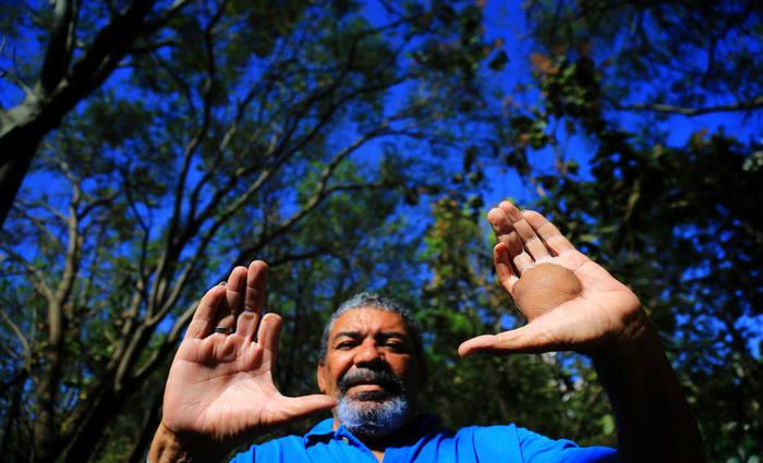 'A gente nunca esquecerá%u2019, afirma Ferreira, sobrevivente do acidente com a cápsula radioativa e césio 137, em 1987, que sofre com radiodermatite. Foto: Wildes Barbosa / Estadão