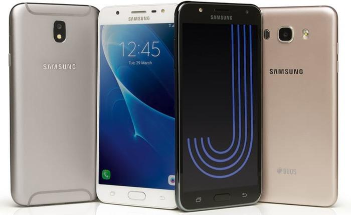 Galaxy J7 Neo (direita) foi lançado em agosto junto com o J5 Pro - Foto: Divulgação/Samsung