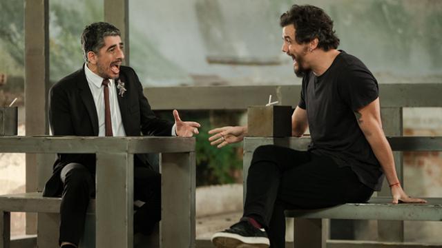 Política e maconha foram alguns dos temas discutidos por Wagner e Melamed. Foto: Canal Brasil/Divugalção