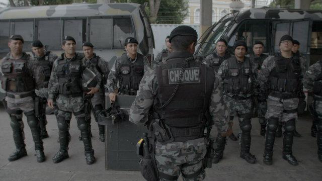 Polícia pernambucana é objeto de estudo no documentário. Fotos: Marcelo Pedroso/Divulgação