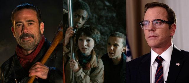 The Walking Dead, Stranger Things e Designated Survivor são alguns dos lançamentos. Fotos: Netflix e AMC/Divulgação