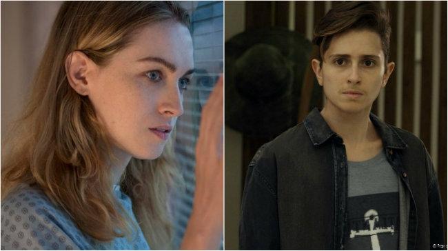 Jamie Clayton e Carol Duarte: interpretação e diversidade em cena. Fotos: Netflix/Globo/Divulgação
