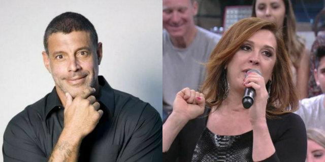 Ator usou as redes sociais para falar de Claudia, com quem já teve relacionamento. Fotos: Facebook, Globo/Reprodução