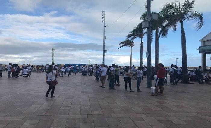 Alunos realizaram manifestações culturais como flash mob e Maracatu no encerramento do evento - Foto: Rodrigo Carvalho/Esp.DP