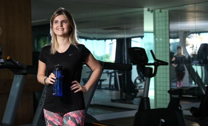 Camila Serrano de Souza travou luta com a balança. Foto: Paulo Paiva/ DP