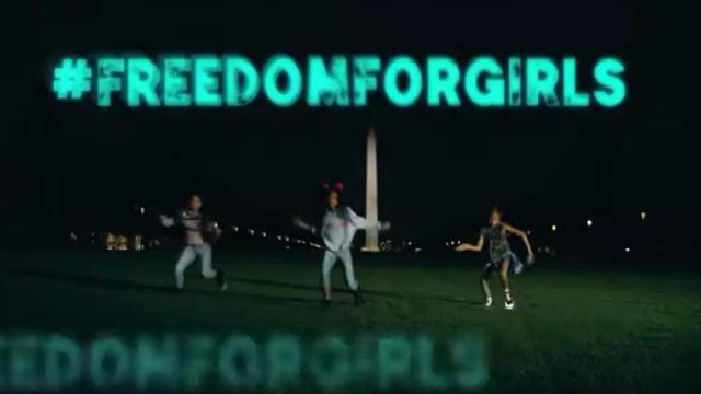 Vídeo procura levantar a hastag #FreedomForGirls. Foto: YouTube/Reprodução
