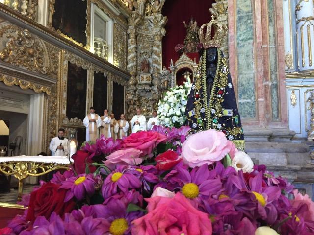 Homenagem ao padre aconteceu no dia de Nossa Senhora Aparecida. Foto: Anamaria Nascimento/DP.