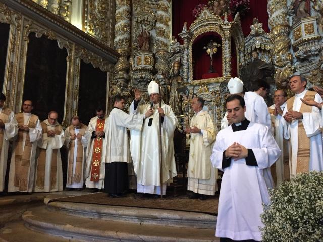 Missa foi celebrada pelo arcebispo de Olinda e Recife, dom Fernando Saburido. Foto: Anamaria Nascimento/DP.