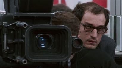 Garrel caracterizado como Godard. Foto: Imovision/Divulgação