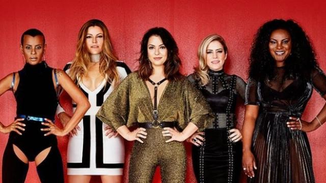 Aline Wirley, Fantine Thó, Lissah Martins, Lu Andrade e Karin Hills formam o grupo Rouge. Foto: Facebook/Reprodução