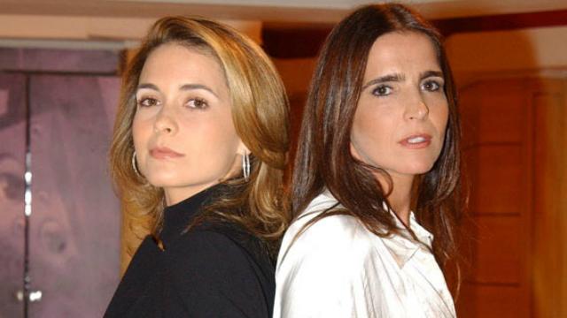 Laura (Claudia Abreu) e Maria Clara (Malu Mader) eram as grandes estrelas da trama. Foto: TV Globo/Reprodução