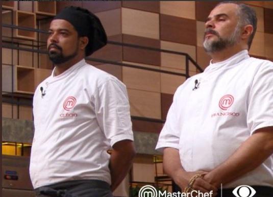 Francisco e Clécio ficaram na berlinda. Os cozinheiros tinham uma relação de cumplicidade. Foto: Band/Divulgação