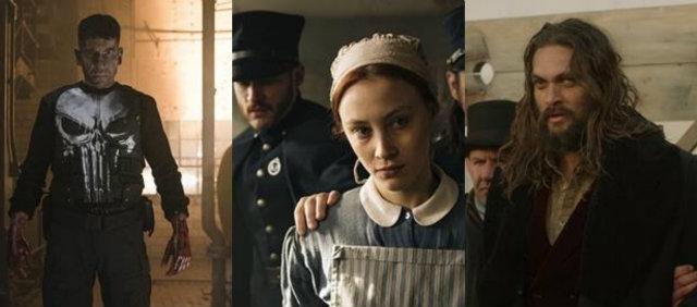 O Justiceiro, Alias: Limited Series e Frontier são alguns dos destaques. Fotos: Netflix/Divulgação