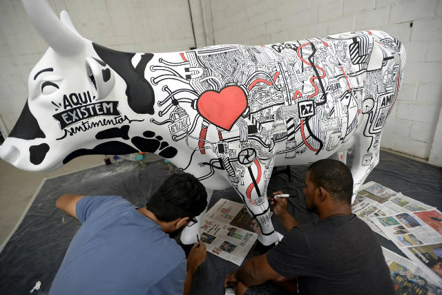 Projeto dá visibilidade ao trabalho de pintores, designers, grafiteiros, escultores, arquitetos e demais interessados por arte. Foto: Leo Caldas/Divulgação
