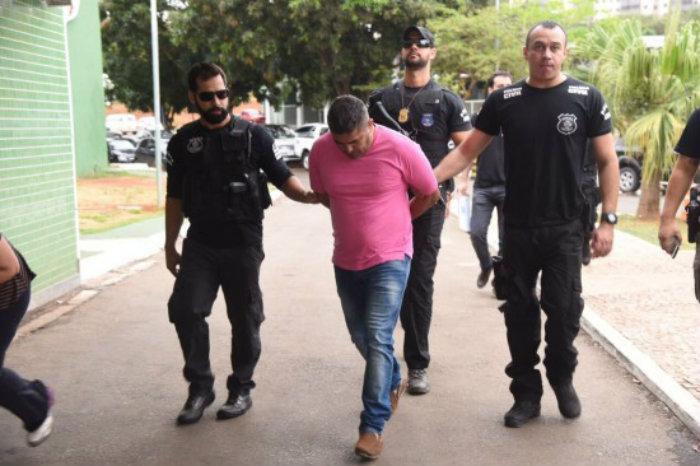 A Divisão Especial de Repressão ao Crime Organizado (DECO) da Polícia Civil do DF chega nesta manhã (30/10) à segunda etapa da Operação Panoptes. Foto: Ed Alves/Correio Braziliense