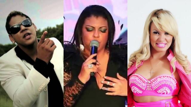 Projeto reúne cantores para gravação de videoclipes. Fotos: YouTube/Facebook/Reprodução