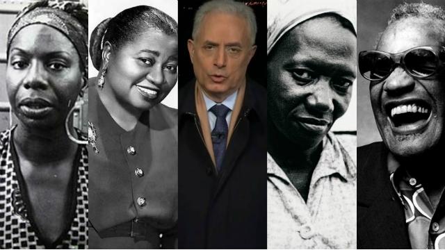 Nina Simone, Hattie McDaniel, Carolina de Jesus e Ray Charles, com Waack ao centro: coisa de preto. Foto: Montagem/DP
