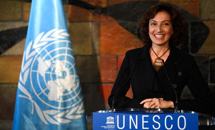 Audrey Azoulay é ex-ministra de cultura. Foto:Eric FEFERBERG  AFP