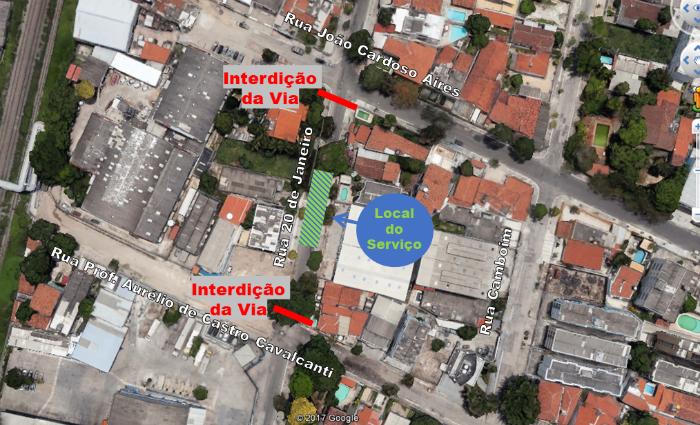 Obra da Compesa altera trânsito na Agamenon. Foto: Compesa/ Divulgação