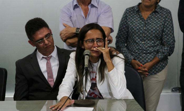 Mãe de Beatriz inicia greve de fome por acesso a inquérito. Foto: Júlio Jacobina/DP