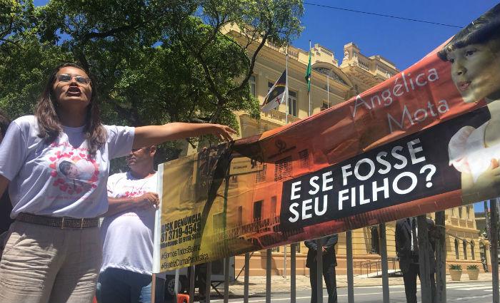 Mãe de Beatriz inicia greve de fome por acesso a inquérito. Foto: Thamires Oliveira/ Esp. DP