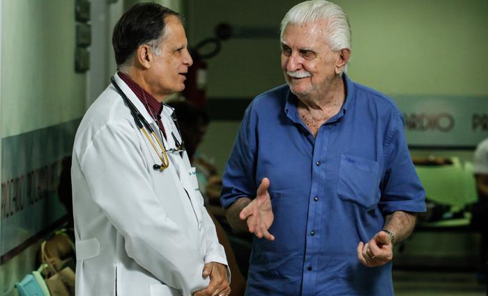 Jorge Cubits recorreu ao especialista  Gustavo Santiago quando precisou ser submetido a exames de ressonância magnética. Foto: Rafael Martins/DP