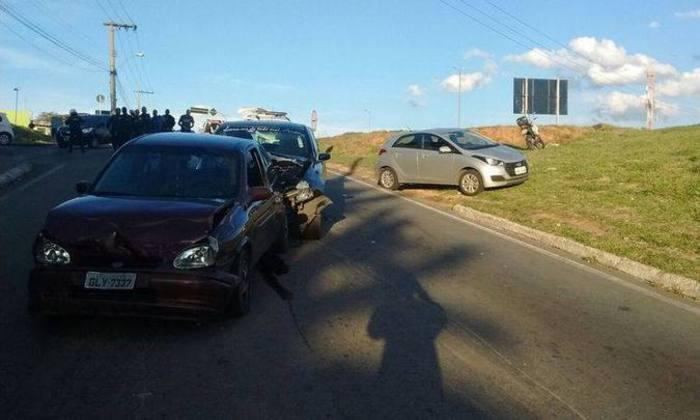 Principal acidente ocorreu após perseguição, na marginal do Anel Rodoviário. Foto: Guarda Municipal/Divulgação