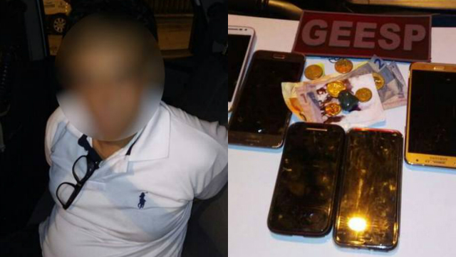 O homem reconhecido pela vítima como autor do estupro também teria furtado outros celulares no evento. Foto: PM-MG/Reprodução
