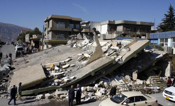 O terremoto atingiu o Irã e Iraque na madrugada de ontem. Foto: Shwan Mihammed/AFP