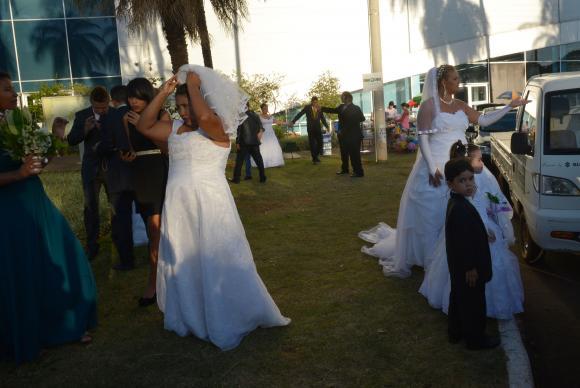 Casamento comunitário reúne casais no Centro de Convenções de Brasíli. Foto: Wilson Dias/Agência Brasil