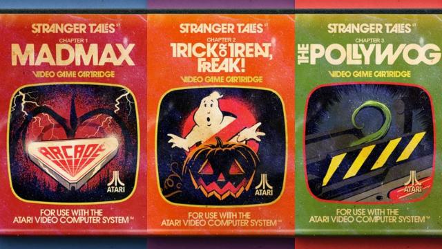 Episódios de Stranger Things viraram jogos de Atari na arte de Billy Butcher. Fotos: Behance/Reprodução