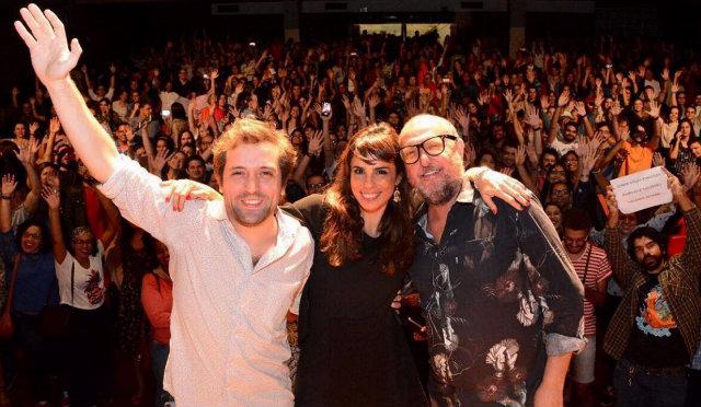Escritores e atriz comandam projeto que já rodou por outras capitais brasileiras. Foto: Ana Lícia Menezes/Divulgação