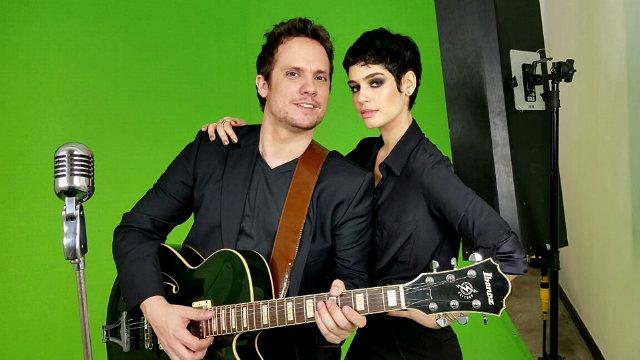 Victor Camarote e Maria Flor nos bastidores do clipe Quem Disse. Foto: Trago Boa Notícia/Divulgação