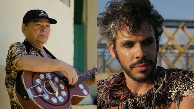 Mocinha de Passira e Almério receberão troféu do 4º Grão de Música. Fotos: Facebook/Reprodução